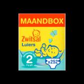 Zwitsal New born mini maat luiers maandbox