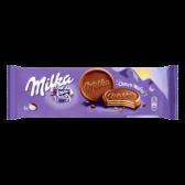 Milka Chocolate wafer cookie with milk chocolate