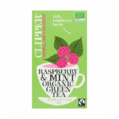 Clipper Biologische groene frambozen en munt thee