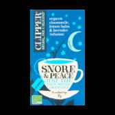 Clipper Biologische kamille, citroen en lavendel thee snore en peace