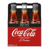 Coca Cola Zero glas 6-pack
