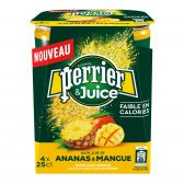 Perrier Pineapple and mango refreshing drink