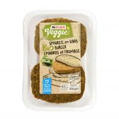 Delhaize Biologische burger spinazie-kaas vegetarisch (alleen beschikbaar binnen Europa)