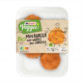 Delhaize Biologische mini wortelburger vegetarisch (alleen beschikbaar binnen Europa)