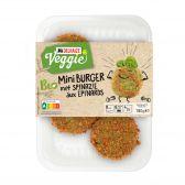 Delhaize Biologische mini spinazie burger vegetarisch (alleen beschikbaar binnen Europa)