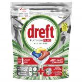 Dreft Platinum plus dishwashing caps large