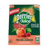Perrier Peach and cherry refreshing drink