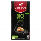 Cote d'Or Organic dark chocolate tablet with caramel