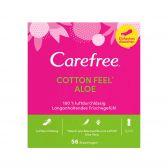 Carefree Pantyliners cotton aloe vera