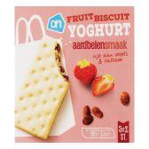 Albert Heijn Yoghurt fruitbiscuit aardbei