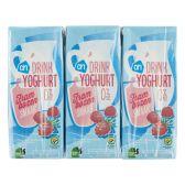 Albert Heijn Drinkyoghurt frambozen 6-pack