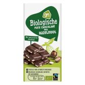 Albert Heijn Organic dark chocolate tablet with hazelnut