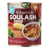 Albert Heijn Rijkgevulde goulash soep met rundvlees
