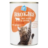 Albert Heijn Beef and liver in jelly for cats (only available within Europe)