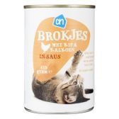 Albert Heijn Chicken and turkey chunks for cats (only available within Europe)