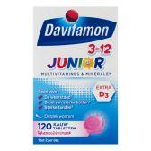Davitamon Junior multivitamines framboos (vanaf 3 tot 12 jaar)
