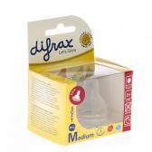 Difrax Bottle pacifier soft medium cherry