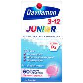 Davitamon Junior 3+ kauwvitamines framboos