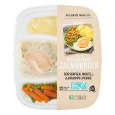 Albert Heijn Zalm erwten en wortelen puree (alleen beschikbaar binnen Europa)