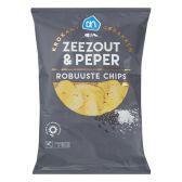 Albert Heijn Robuuste chips zeezout en peper