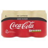 Coca Cola Zero cafeinevrij 6-pack