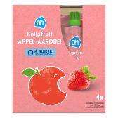 Albert Heijn Apple and strawberry squeeze bag