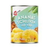 Albert Heijn Basic pineapple slices on syrup