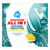 Albert Heijn All in 1 dishwashing tabs extra dry lemon