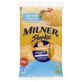 Slankie Milner jong belegen geraspte 20+ kaas (voor uw eigen risico, geen restitutie mogelijk)