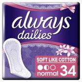 Always Dailies soft like cotton normal fresh inlegkruisjes