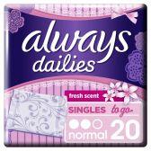 Always Inlegkruisjes dailies singles to go fresh normal