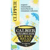 Clipper Biologische kamille, honing en kaneel thee calmer chameleon