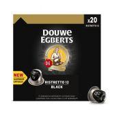 Douwe Egberts Koffie ristretto 12 black caps