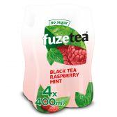 Fuze Tea Zwarte thee framboos munt zonder suiker fair trade