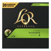 Douwe Egberts L'Or espresso lungo elegante koffiecups voordeelpak