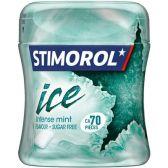 Stimorol Kauwgom ice intense mint pot