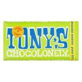 Tony's Chocolonely amandel & zeezout puur 51%