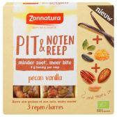 Zonnatura Pit & notenreep pecan vanilla bio